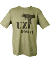Kombat T-Shirt Uzi Does It in olive green