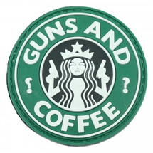 Guns and Coffee Tactical Patch in 3D