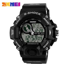 G Style Army Digital Rubber Sports Wrist Watch in Black AD1029
