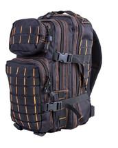 Small Assault Backpack Rucksack 28 Lt in Black and Orange