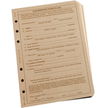 RITR CAS 9 Line Loose Leaf TAMS Paper
