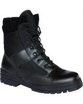 Kombat Military Patrol Boots Half Leather Half Cordura in Black