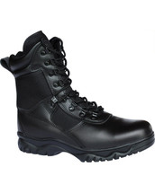 Kombat Swat Patrol Boots Half Leather Half Cordura in Black