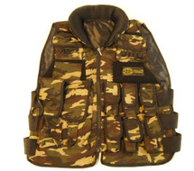 KIDS WELL FIRE COMBAT TACTICAL VEST WITH VALCRO POCKETS IN DPM