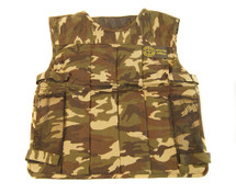 KIDS WELL FIRE TACTICAL VEST WITH PADDING IN DPM CAMO