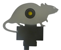 knockdown rat metal target with ground spike
