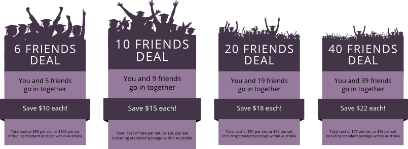 Friends deals will save you even more on our university graduation gown sets