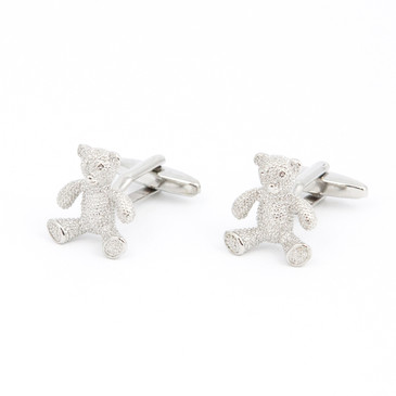 Teddy Bear Cufflinks - main view - University graduation gift