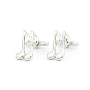 Musical Note Cufflinks - main view - University graduation gift