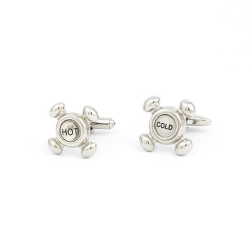 Water Tap Cufflinks - main view - University graduation gift