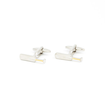 Cricket Bat Cufflinks - main view - University graduation gift