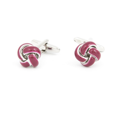 Purple Enamel Knot Cufflinks - main view - University graduation gift