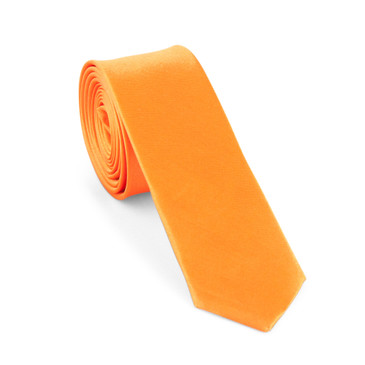 Orange Satin Necktie (Skinny) - main view - University graduation gift