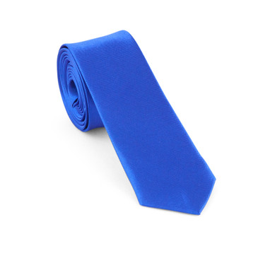 Blue Satin Necktie (Skinny) - main view - University graduation gift