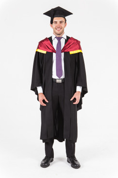 University of Western Australia Honours Graduation Gown Set - Medicine - Front view