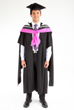 Masters Graduation Gown Set for UTS - Health - Front view