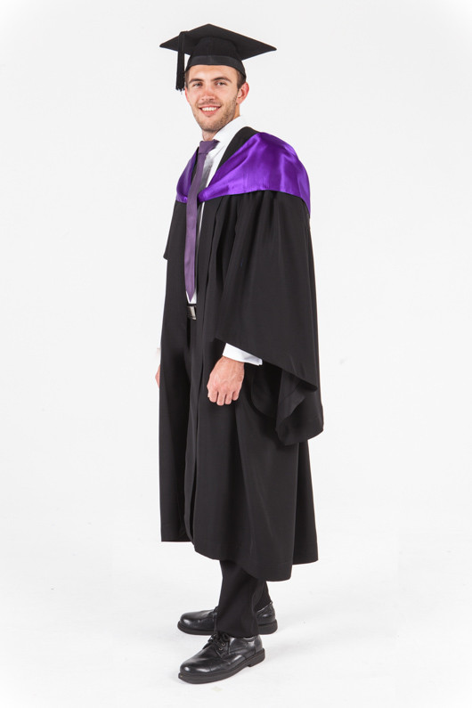 Unisa bachelor graduation gown set education front angle view