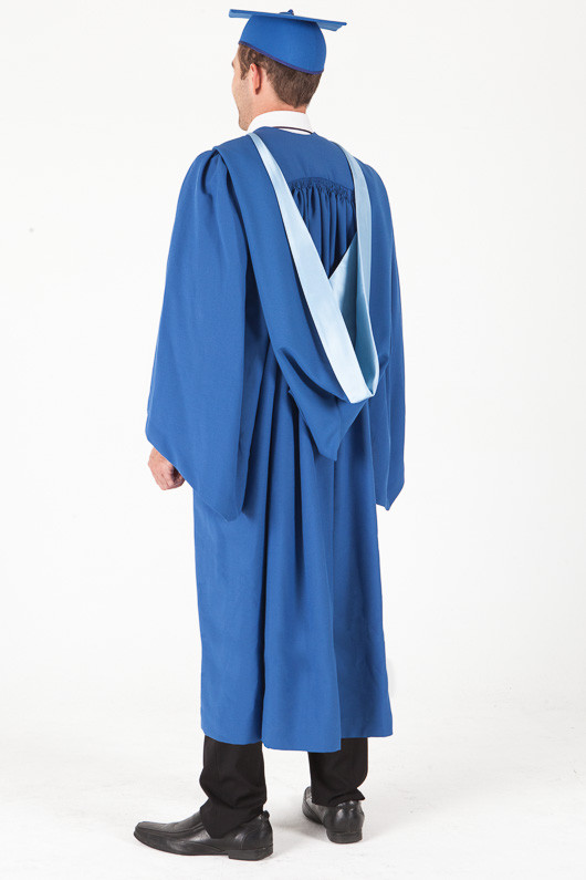 Bachelor Graduation Gown Set for UOW - Standard - Back angle view