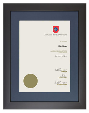Degree Certificate Frame for ACU