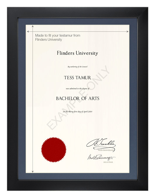 Degree Certificate Frame For Flinders University Gowntown