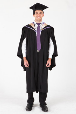 UNE Bachelor Graduation Gown Set - Education and Teaching - Front view