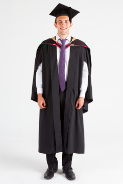 UNE Bachelor Graduation Gown Set - Health, Pharmacy - Front view