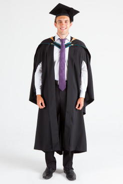 UNE Bachelor Graduation Gown Set - Agriculture and Rural Science - Front view