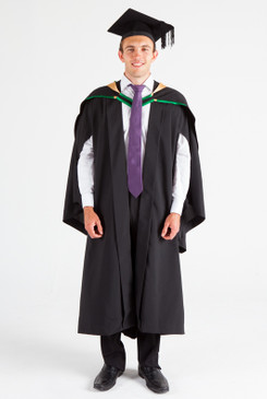 UNE Bachelor Graduation Gown Set - Music and Theatre - Front view