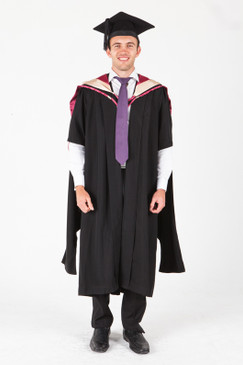 UNE Masters Graduation Gown Set - Health, Pharmacy - Front view
