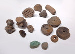 PC103 - DIVERSE 14 PIECE PRE-COLUMBIAN CULTURE COLLECTION OF VARIOUS OBJECTS INCLUDING ANCIENT TURQUOISE ORE FOR EDUCATION