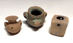 PC208 - SET OF 3 PRE-COLUMBIAN MAYAN BLOOD-LETTING SACRIFICE VESSELS
