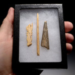 PC225 - RARE PRE-COLUMBIAN AZTEC BONE TOOL SET