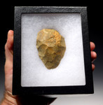 M319 - FINEST NEANDERTHAL FLINT MOUSTERIAN BIFACE HANDAXE FROM FRANCE
