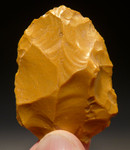 M358 - RARE YELLOW JASPER NEANDERTHAL MOUSTERIAN SCRAPER FROM FAMOUS FONTMAURE SITE IN FRANCE