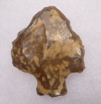 AT076 - BEAUTIFUL SPECKLED FLINT MIDDLE STONE AGE ATERIAN TANGED POINT - OLDEST ARROWHEAD