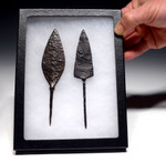 R128 - LARGE ANTI-CAVALRY BYZANTINE ROMAN IRON ARROWHEADS