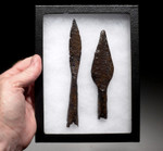 R149 - PAIR OF IRON EASTERN ROMAN BYZANTINE THROWING JAVELIN SPEARHEADS