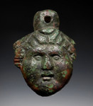 R156 - SUPERB EARLY ANCIENT ROMAN BRONZE DIANA GODDESS PENDANT