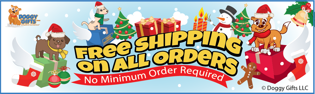 free shipping on all orders at doggygifts.com