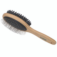 Safari Pin and Bristle Combo Dog Brush with Bamboo Handle Medium