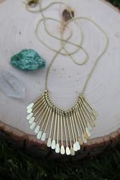 Golden Sunshine Paddle Necklace