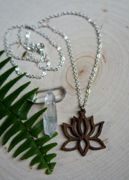 Lotus Peace Eco-Friendly Wooden Necklace