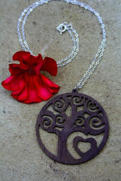 Woodland Love Eco-Friendly Wooden Necklace