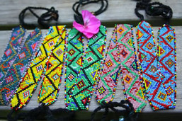 Aztec Ruins Fair Trade Hand Beaded Choker/Headband