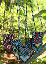 Medicine Woman Beaded Pouch Necklace