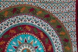 Lizard Love Fair Trade Mandala Tapestry