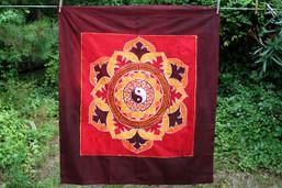 Fair Trade Yin-Yang Batik Wall Hanging