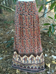 Gypsy Dancer Indian Print Skirt