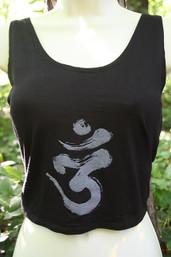 Peace, Love & Meditation Backless Fair Trade Top