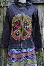 Peace & Harmony Embroidered Hoodie